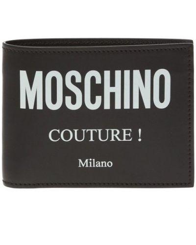 Portfel skórzany - czarny Moschino