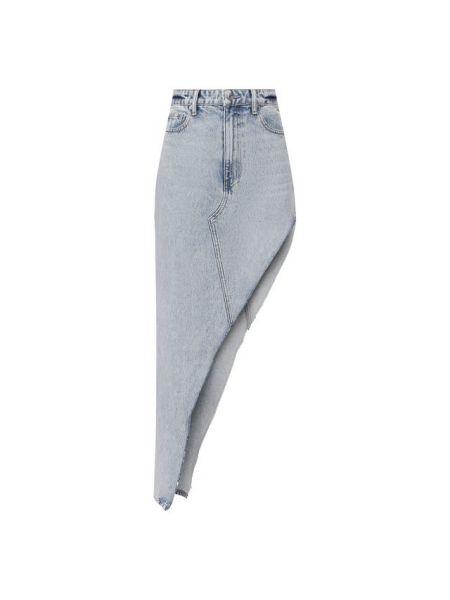 Хлопковая синяя джинсовая юбка Denim X Alexander Wang