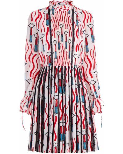 Платье с оборками с манжетами Valentino