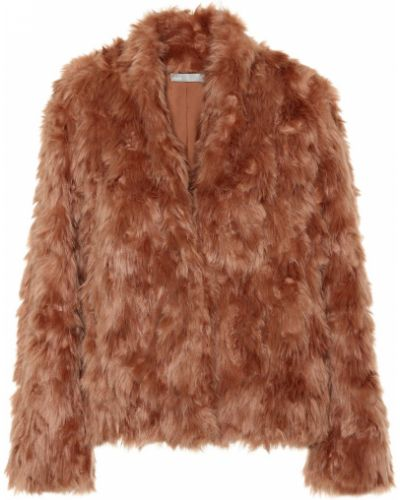 Розовая плюшевая куртка Vince