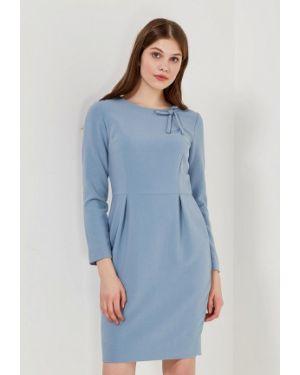 Голубое платье футляр Echo