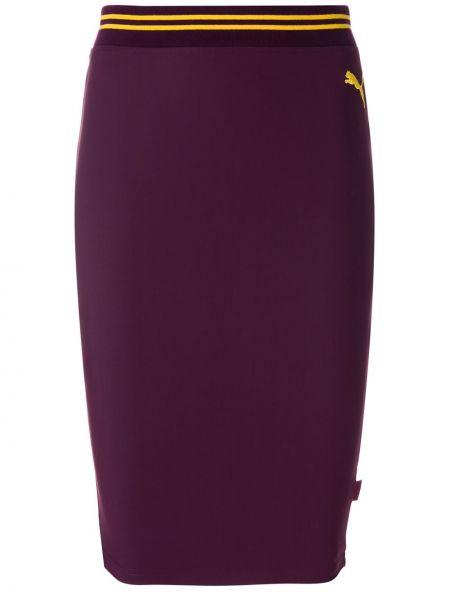 Нейлоновая розовая юбка с поясом узкого кроя Fenty X Puma