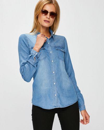 Блузка с длинным рукавом прямая хлопковая Vila
