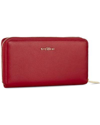 Czerwony portfel oversize Giovani