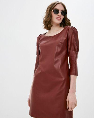 Кожаное красное платье Pink Summer
