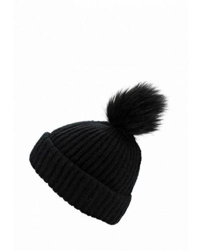 Черная шапка с помпоном Topshop