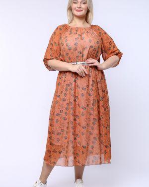 Платье с поясом шифоновое платье-сарафан грация стиля