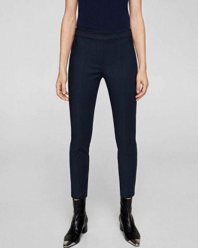 Синие зауженные брюки Mango