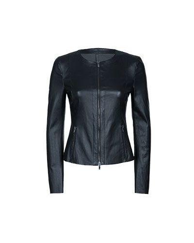 Кожаная куртка - черная Drome