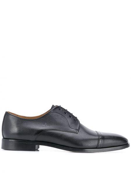 Кожаные черные дерби на шнуровке Boss Hugo Boss
