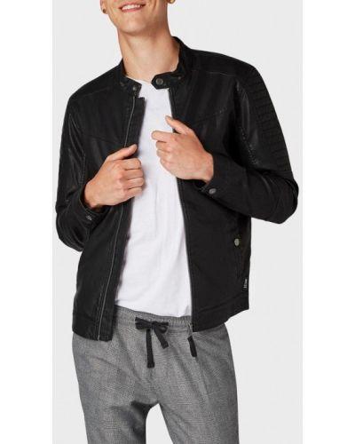 Джинсовая куртка осенняя кожаная Tom Tailor Denim