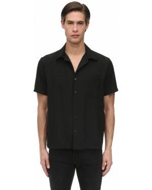 Klasyczna czarna klasyczna koszula krótki rękaw Other