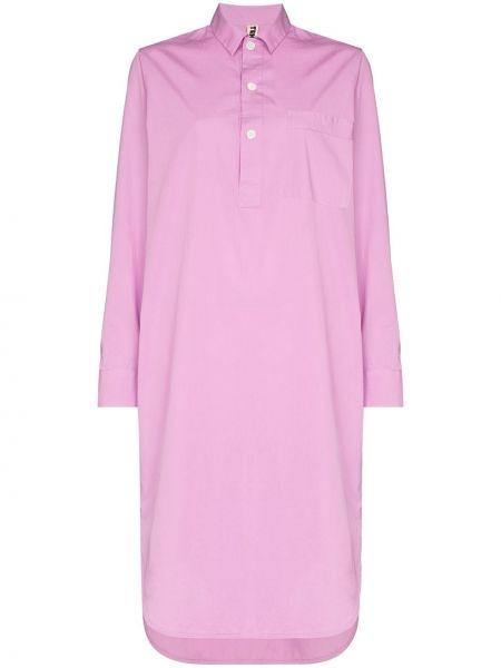 Koszula nocna bawełniana - różowa Tekla