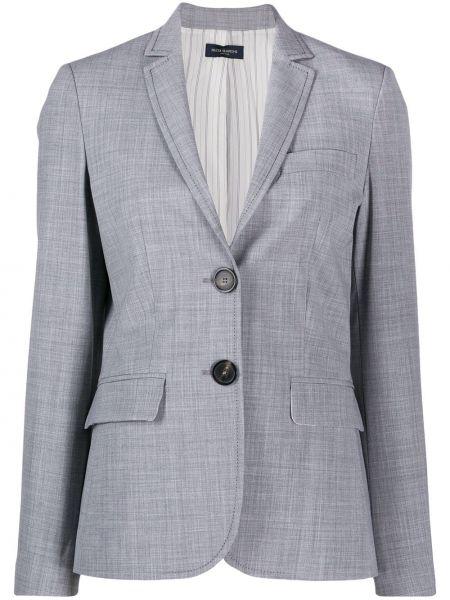 Классический пиджак серый в полоску Piazza Sempione