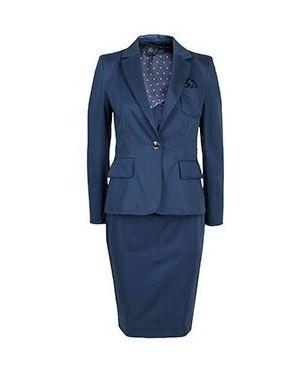 Синий костюмный костюм Luisa Spagnoli