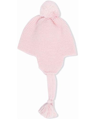 Czapka z pomponem wełniana - różowa Il Gufo