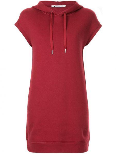 Платье мини короткое - красное T By Alexander Wang