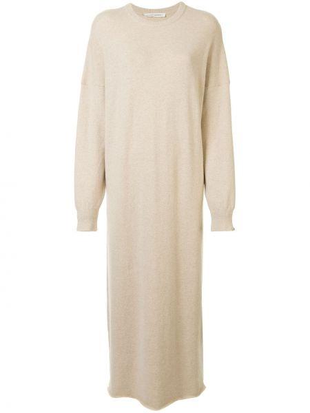 Платье в рубчик с рукавами Extreme Cashmere