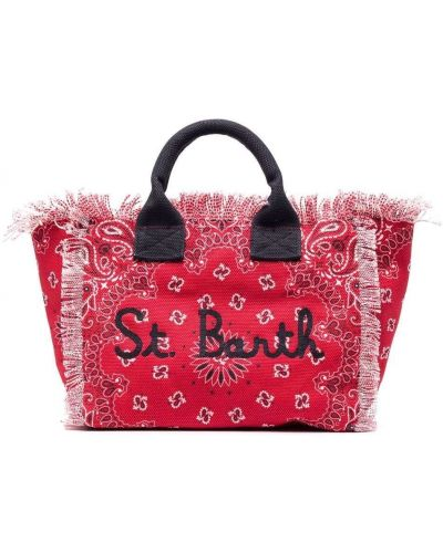 Пляжная красная косметичка с карманами Mc2 Saint Barth Kids