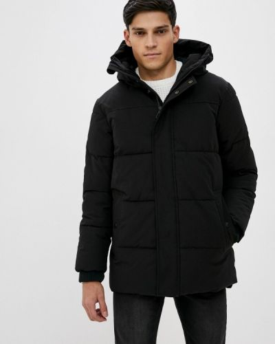 Утепленная черная короткая куртка Marks & Spencer