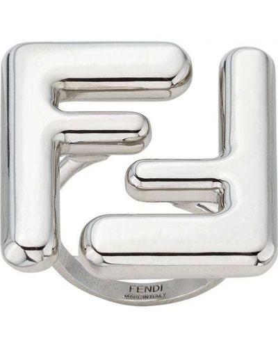 Массивное кольцо - серебряное Fendi
