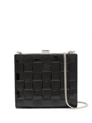 Кожаная черная сумка на цепочке винтажная Louis Vuitton