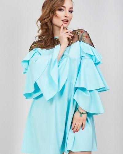 Голубое платье весеннее Olko