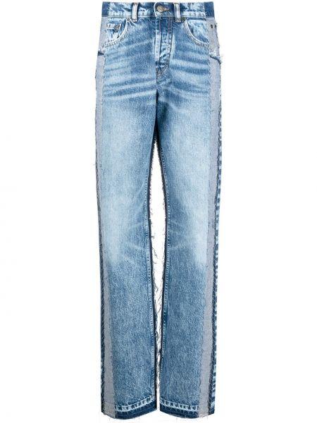 Прямые синие джинсы классические с высокой посадкой Maison Margiela