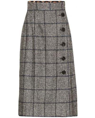 Ватная хлопковая юбка миди Dolce & Gabbana