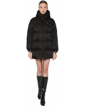 Куртка с капюшоном нейлоновая на молнии Prada