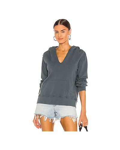 Хлопковый серый свитер с капюшоном H:ours