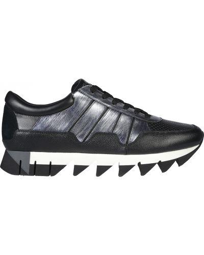Кожаные кроссовки - серые Dolce & Gabbana