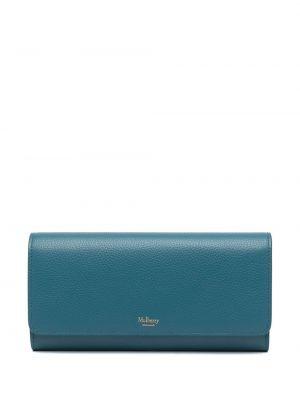Niebieski portfel skórzany Mulberry
