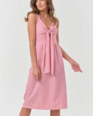 Платье с поясом на бретелях с V-образным вырезом Fly