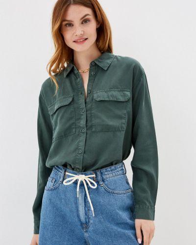 Зеленая рубашка с длинными рукавами B.young