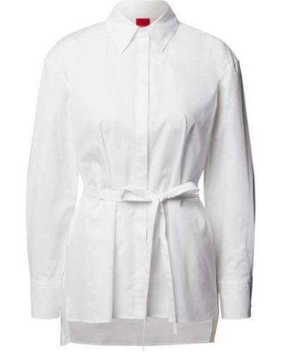 Biała bluzka bawełniana Hugo