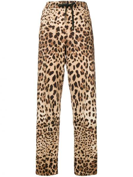 Коричневые шелковые брюки Dolce & Gabbana