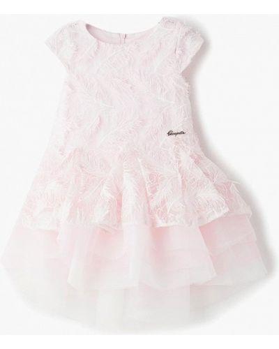 Платье на торжество розовый Choupette