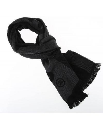 Czarny szalik bawełniany Dsquared
