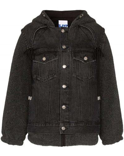 Черная джинсовая куртка Sjyp