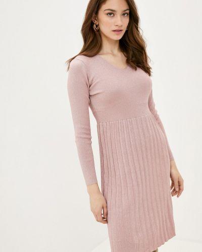 Ватное хлопковое вязаное розовое платье Fresh Cotton