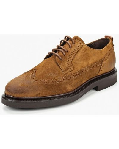 Коричневые туфли замшевые Marc O'polo