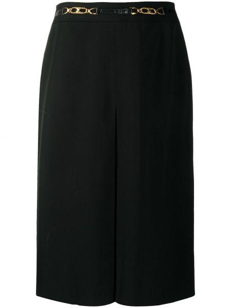 Прямая черная с завышенной талией юбка на молнии Céline Pre-owned