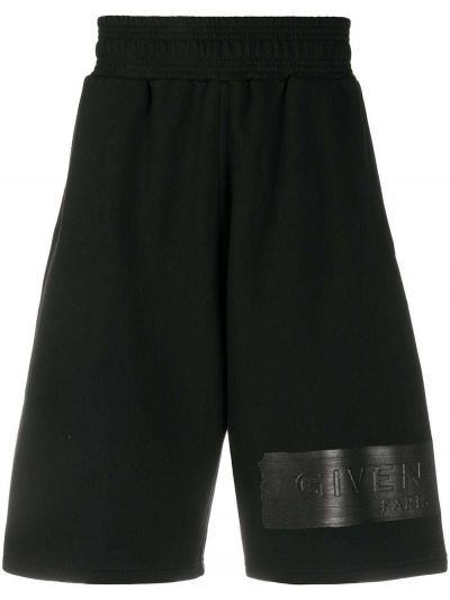 Szorty bawełniane - czarne Givenchy