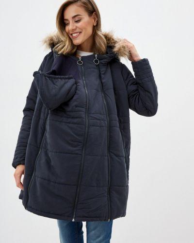 Теплая серая утепленная куртка Mama.licious