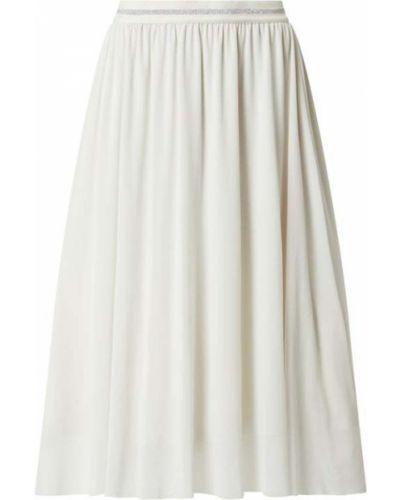 Biała spódnica midi rozkloszowana z szyfonu Milano Italy