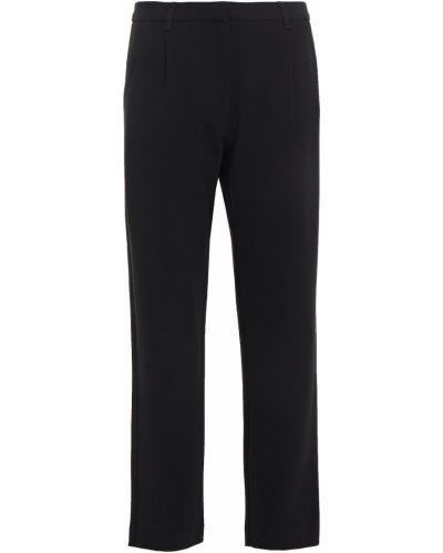 Плиссированные черные укороченные брюки с поясом SamsØe Φ SamsØe