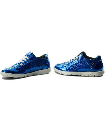 Кожаные туфли - синие Slow Walk