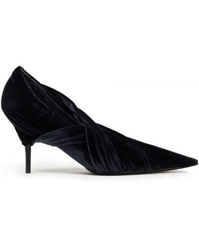 Черные кожаные туфли-лодочки с острым носом Balenciaga