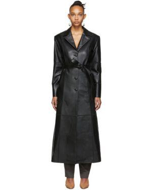 Черная длинная куртка с опушкой с подкладкой с воротником Situationist